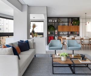 Apê de 195 m² ganha decoração contemporânea para nova fase da família