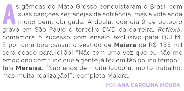 Maiara e Maraisa Abre (Foto: Ricardo Cardoso/ Ed. Globo)