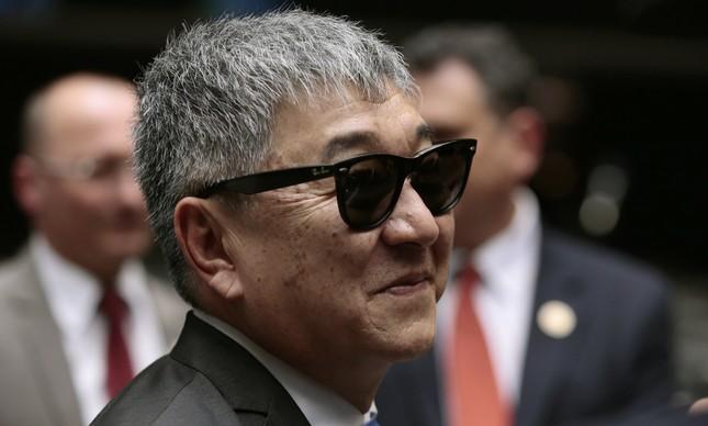 O japonês da Federal, Newton Ishii, em visita à Câmara dos Deputados em 2016
