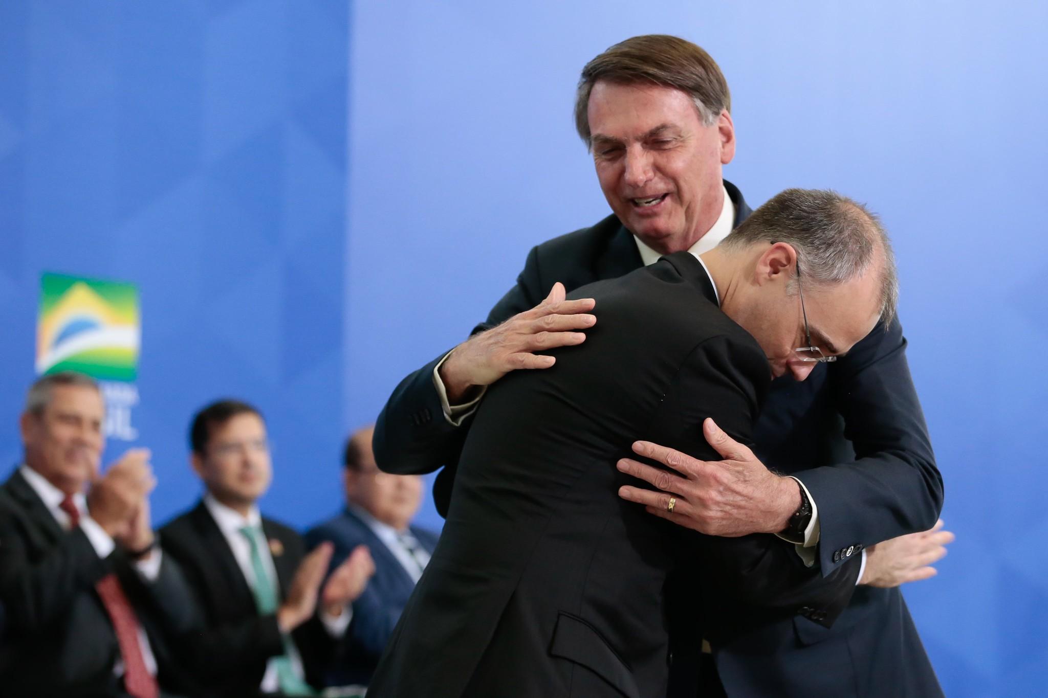 André Mendonça e Jair Bolsonaro