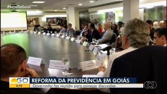 Governador Ronaldo Caiado discute reforma da previdência em Goiás