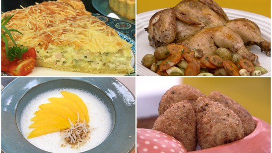 Quiche leve, frango assado, gelado de maria-mole e mais: veja as receitas especiais da Ana Maria Braga no 'Encontro'