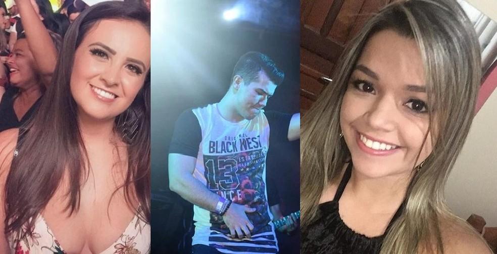 Myllena Lacerda (à esquerda), Ramon Viveiros (centro) e Hya Girotto (à direita) — Foto: G1