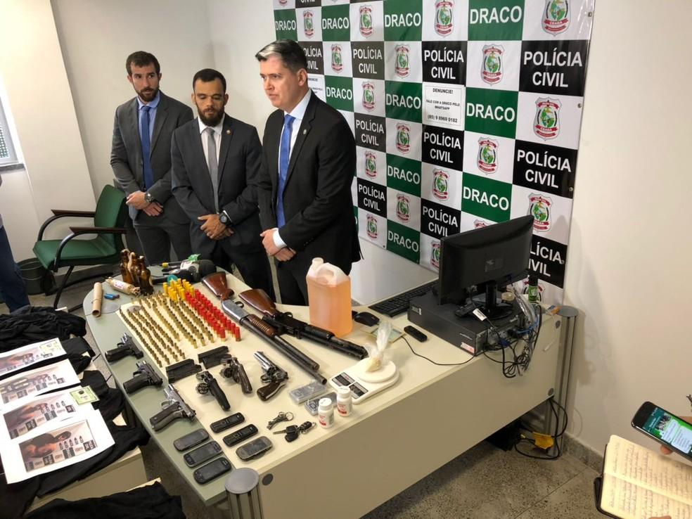 Polícia investiga se criminosos tem relação com ataques a ônibus e prédios públicos em Fortaleza.  (Foto: SSPDS/Divulgação)