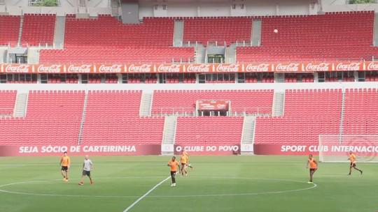 Odair divide grupo em dois treinos e ajusta times do Inter para quinta e domingo