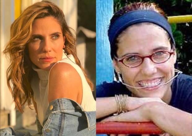 """Rafaela Mandelli atualmente e na época de """"Malhação"""", em 2001 (Foto: Reprodução/Instagram)"""