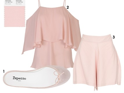 1. Sapatilha Repetto, R$ 936. 2. Blusa Tigresse, R$ 890. 3. Shorts de viscose Amaro, R$ 99,90