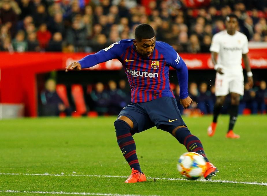 Malcom iguala feito de Neymar, Ibra, Eto´o e Henry no Barcelona após gol diante do Real