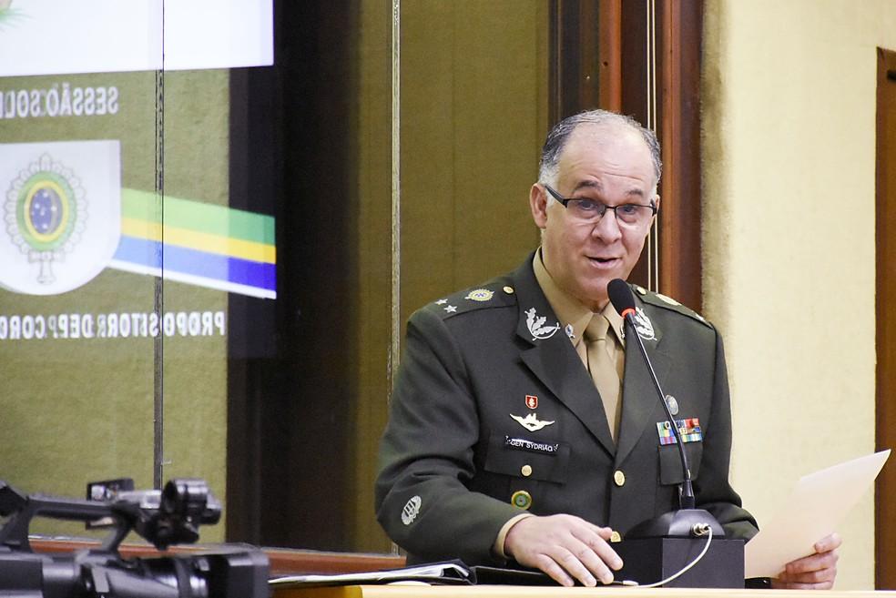 General de brigada Carlos Augusto Fecury Sydrião Ferreira — Foto: Eduardo Maia/Assembleia Legislativa do Rio Grande do Norte