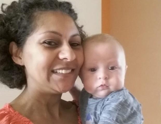 Theo nasceu saudável, com 37 semanas de gestação (Foto: Arquivo pessoal)