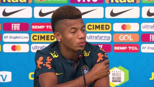 """Empolgado com a Seleção, David Neres exalta Neymar: """"É um dos melhores do mundo"""""""