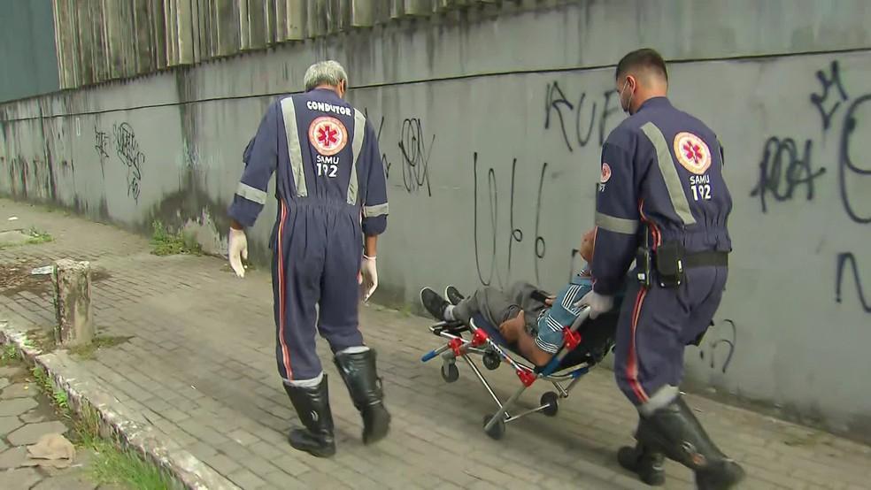 Corpo de Bombeiros registrou ferimentos leves na maioria dos pacientes feridos no Metrô do Recife — Foto: Reprodução/TV Globo