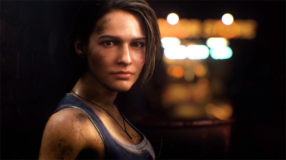 Resident Evil 3 Remake traz o retorno de Jill Valentine, uma das protagonistas do primeiro jogo da série — Foto: Divulgação/Capcom