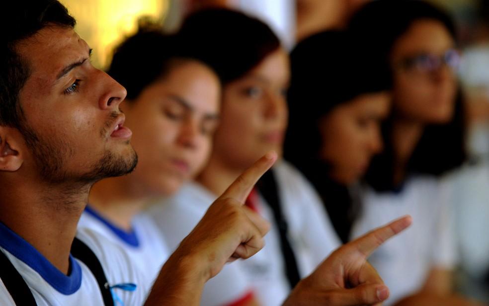Alunos de escola pública do Distrito Federal — Foto: Gabriel Jabur/Agência Brasília/Divulgação