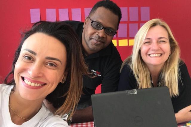 Suzana Pires, Renato Santos e Martha Mendonça (Foto: Arquivo pessoal)