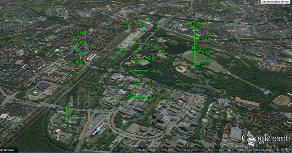 Voe pelo mundo usando o simulador de voo integrado do Google Earth (Foto: Edivaldo Brito/TechTudo)