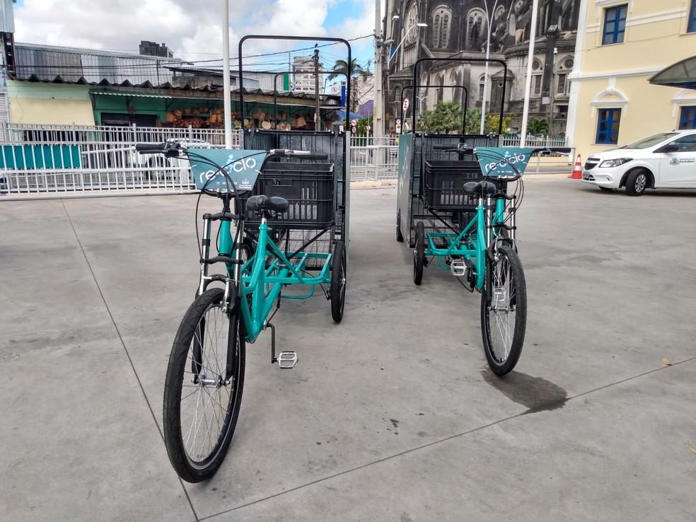 A princípio, serão 90 triciclos entregues em Fortaleza, no começo do ano — Foto: Matheus Facundo/SVM