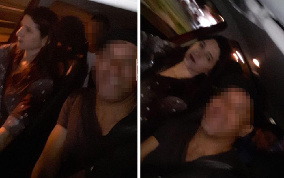 Fotos que Vanusa da Cunha Ferreira teria mandado para amigas horas antes de desaparecer — Foto: Reprodução/Arquivo pessoal