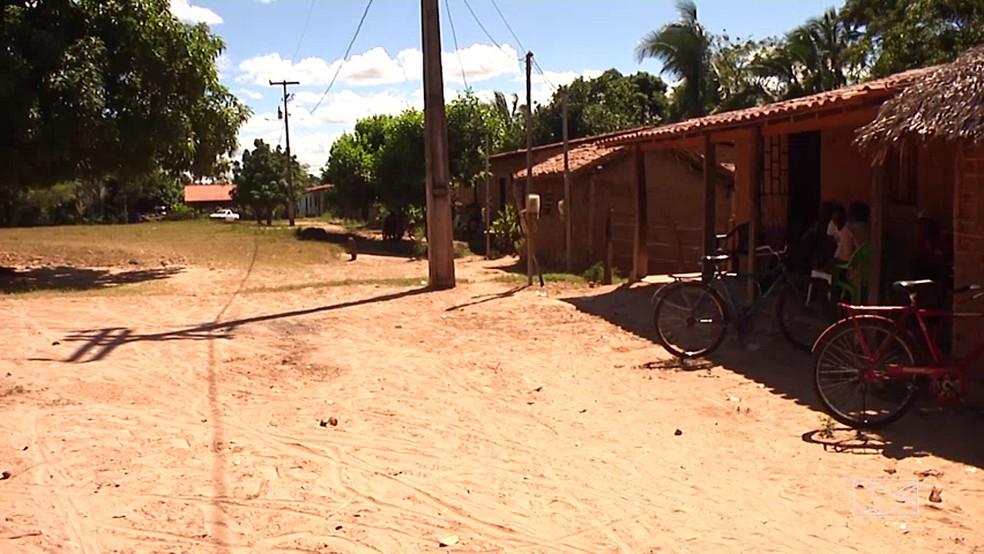 Crime aconteceu no povoado Sapucaíba, em Bacabal (MA). (Foto: Reprodução/TV Mirante)