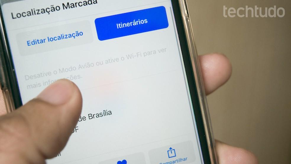 5e1e71c6d13c0 ... Tutorial mostra como compartilhar sua localização atual com amigos  usando o Apple Maps — Foto