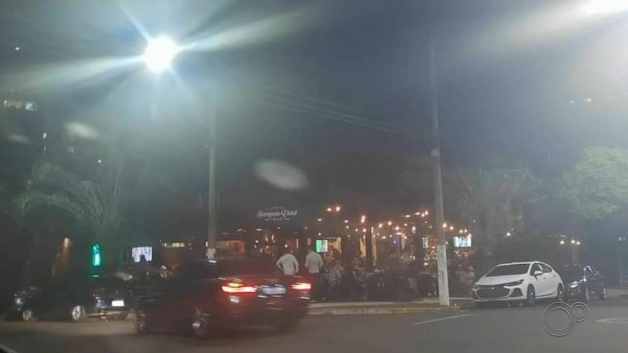 Setor de fiscalização flagra bares lotados em Marília neste fim de semana