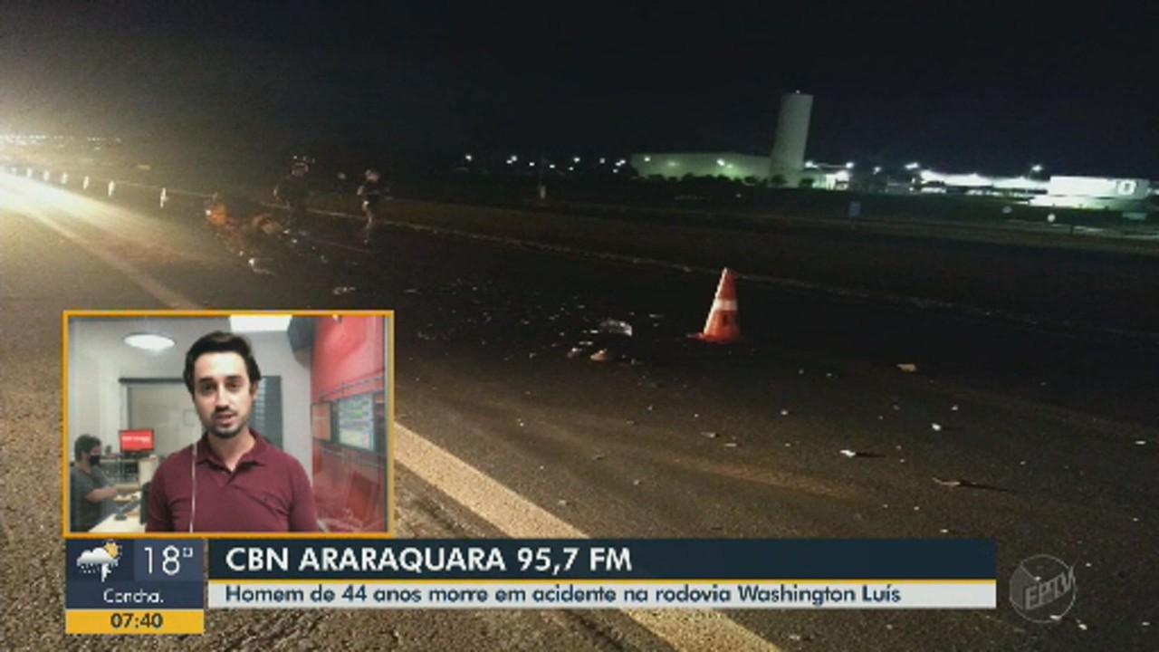 Homem morre em Araraquara após acidente na Rodovia Washington Luís