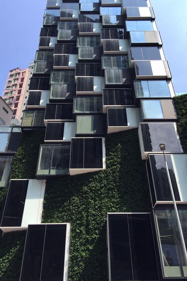 """Hotel em Hong Kong tem fachada """"pixelada"""" (Foto: Reprodução)"""