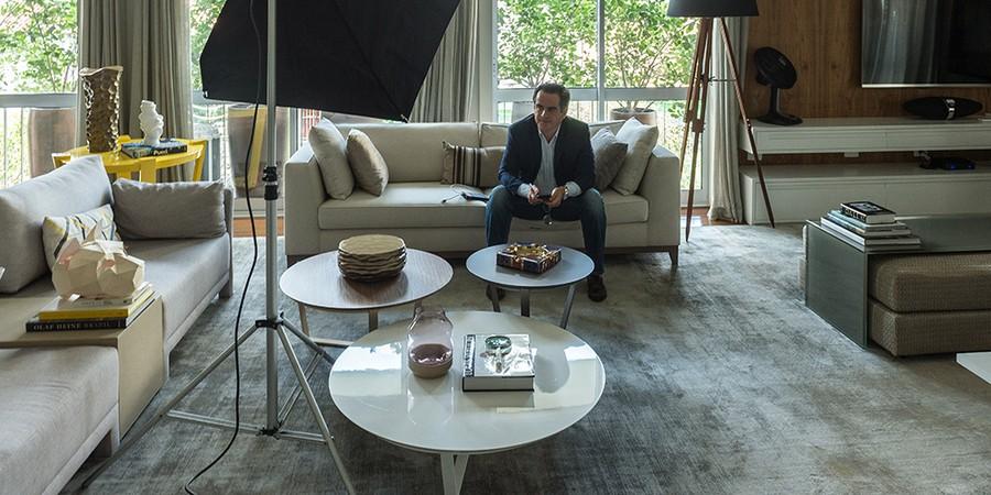 """Ciro Nogueira em sua residência no bairro do Jardim Paulista, em São Paulo. Presidente do PP é chamado pelo codinome """"Cerrado"""" nas planilhas da Odebrecht (Foto: CACALOS GARRASTAZU/AGÊNCIA O GLOBO)"""
