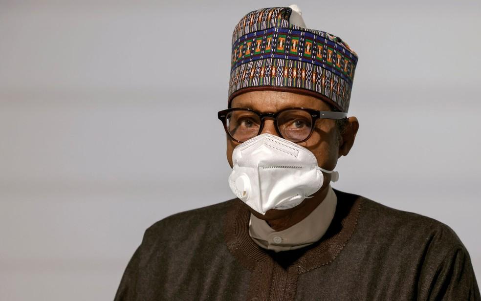 O presidente da Nigéria, Muhammadu Buhari, em foto de 18 de maio — Foto:  Ludovic Marin/Pool via Reuters