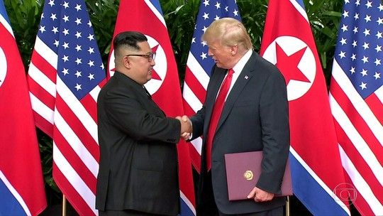 Leia a íntegra do texto do documento assinado por Trump e Kim