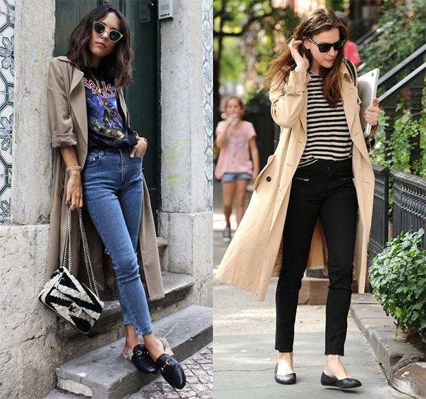 Com calça jeans, o casaco ganha ares mais modernos e casuais (Foto: Reprodução / Pinterest)