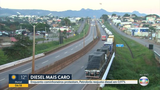 Protesto dos caminhoneiros entra no segundo dia em Minas Gerais