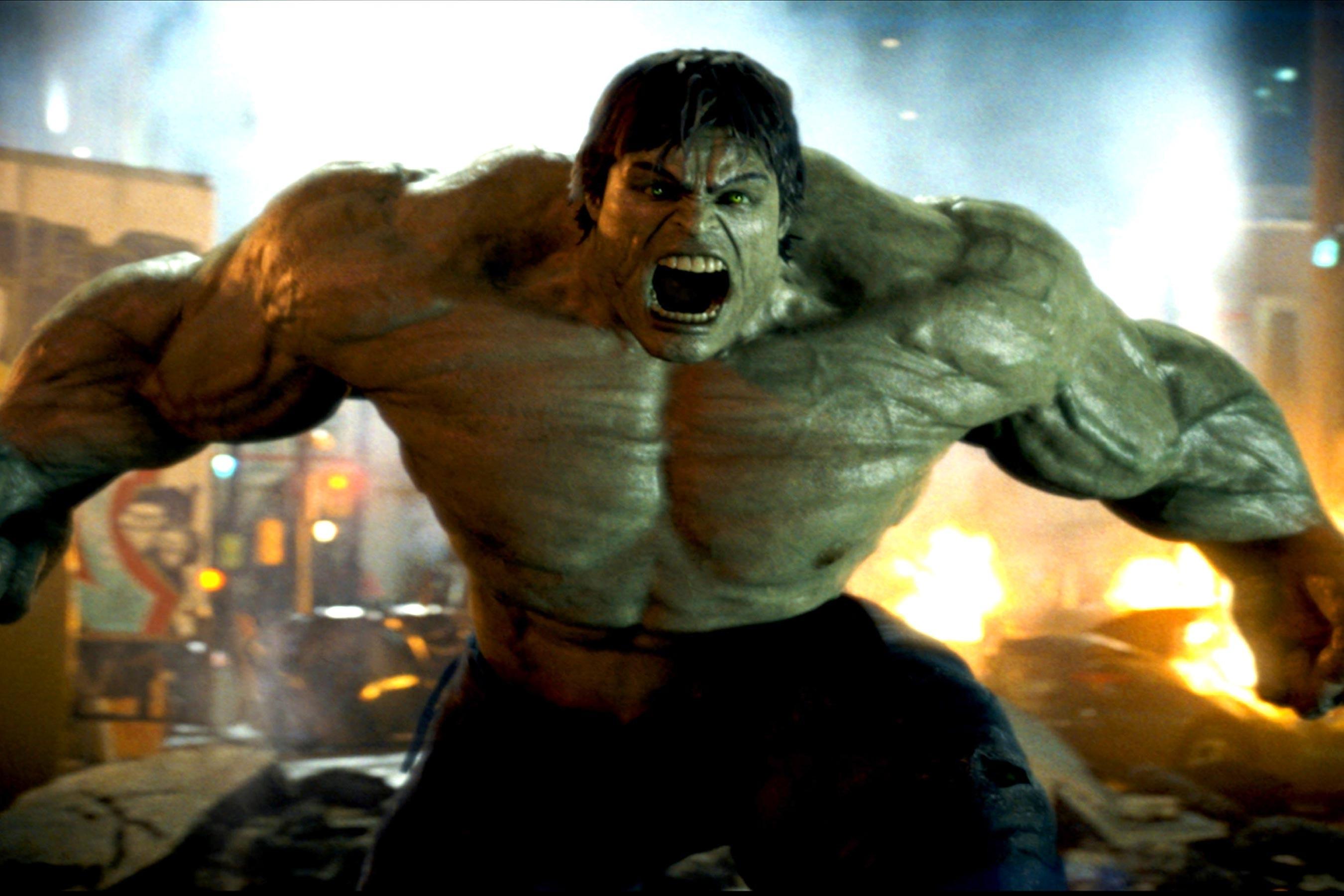 O herói Hulk vivido por Edward Norton em O Incrível Hulk (2008) (Foto: Reprodução)