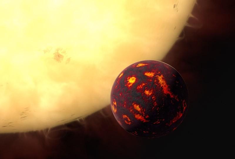 Representação artística de 55 Cancri e (Foto: ESA/Hubble, M. Kornmesser/Wikimedia Commons)