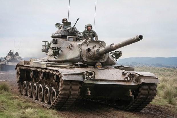 M60 é o tanque mais pesado usado pelo Exército Brasileiro (Foto: Exército Brasileiro/Divulgação)