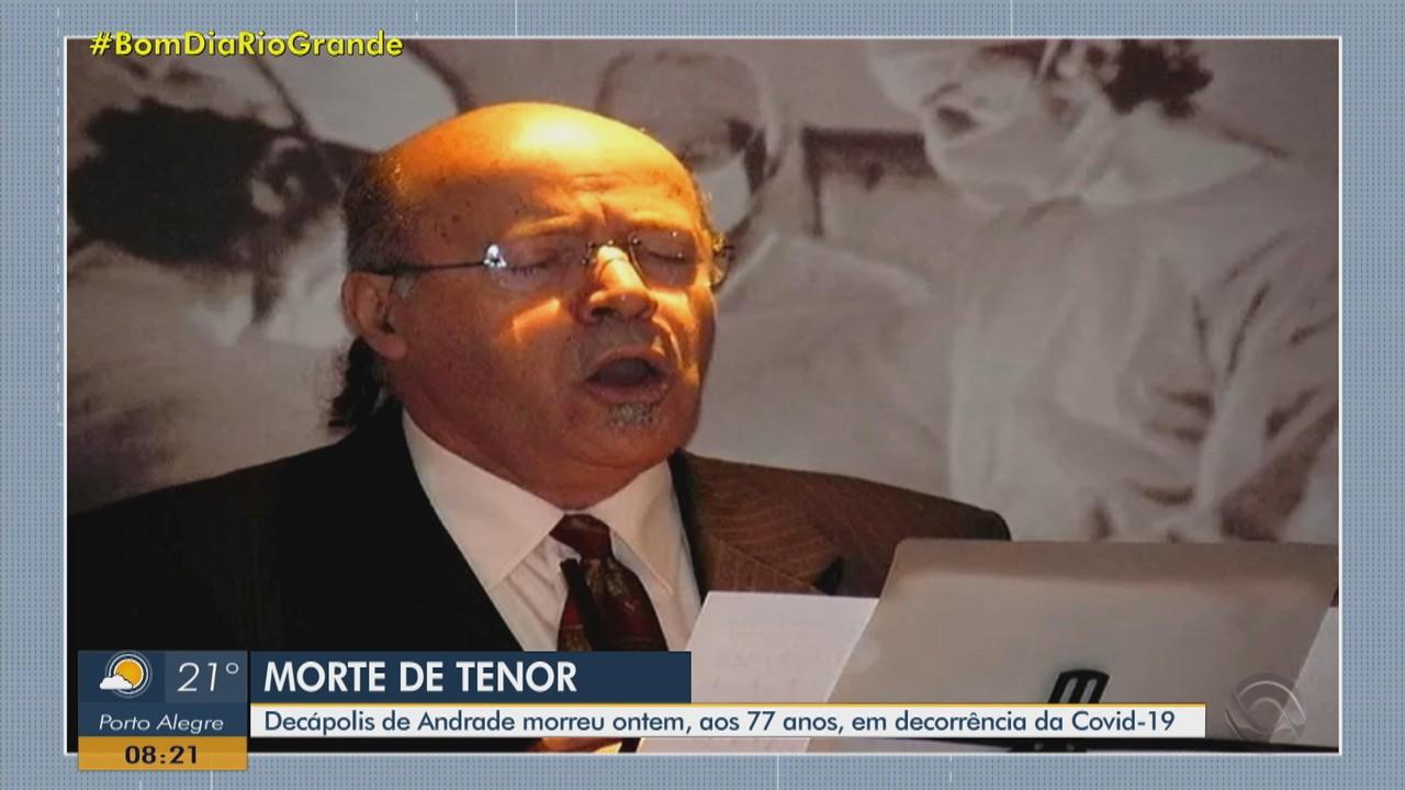 Tenor Decápolis de Andrade morre após diagnóstico de Covid em Porto Alegre