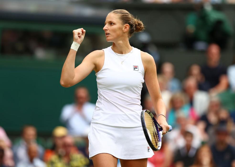 Pliskova finalista de Wimbledon 2021 — Foto: Julian Finney / Getty Images