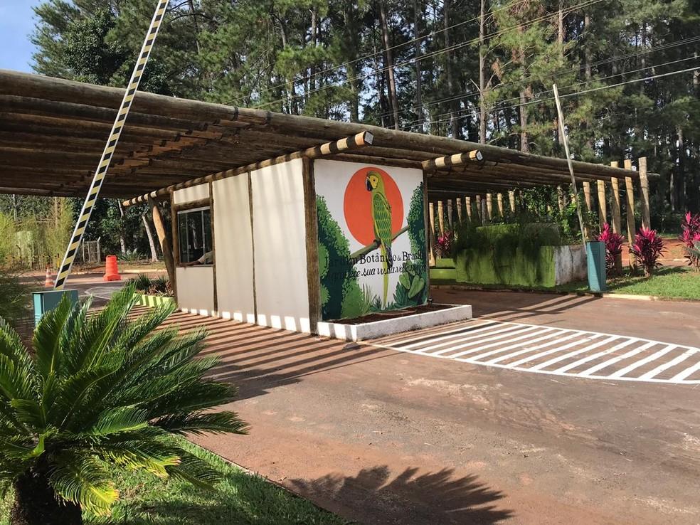 Nova portaria do Jardim Botânico de Brasília — Foto: Divulgação