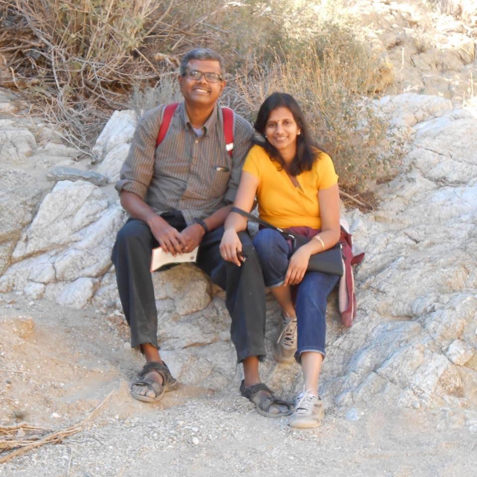 Aarti e o marido (Foto: Arquivo pessoal)