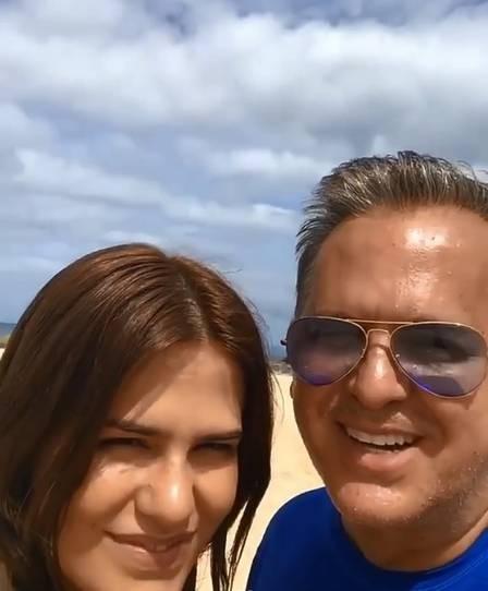 Antonia e Orlando Morais no Havaí (Foto: Reprodução/Instagram)