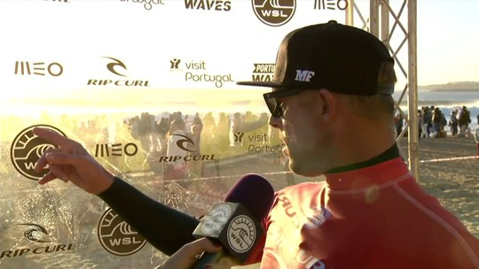 Mick Fanning se impressiona com tubo e nota de Gabriel Medina em entrevista