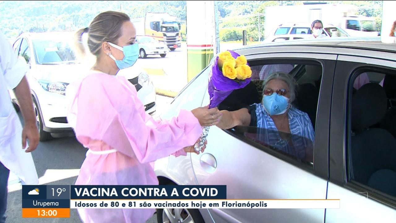 Florianópolis vacina contra a Covid idosos de 80 e 81 anos