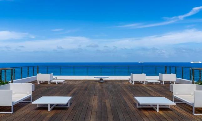 Vista da cobertura que Mário Garnero colocou à venda em Miami