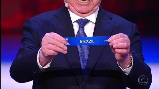 Brasil fica no Grupo E da Copa do Mundo e estreia contra a Suíça