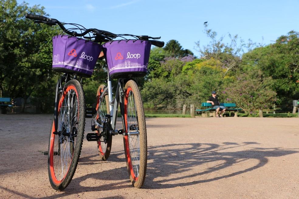 Bicicletas compartilhadas em Porto Alegre (RS) — Foto: Loop/Divulgação