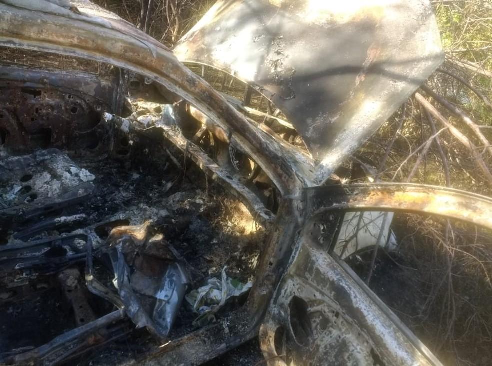 Veículo foi encontrado na cidade de Chorozinho, na Grande Fortaleza. — Foto: Polícia Civil