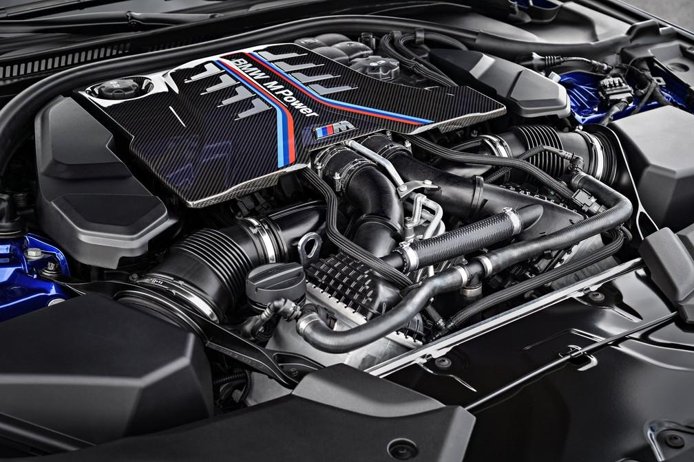 Motor V8 do BMW M5 (Foto: Divulgação)