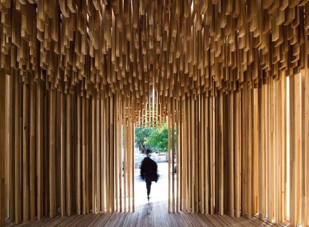 A instalação Sclera, que fez parte do London Design Festival de 2008 é um dos detaques da exposição (Foto: London Design Museum/Divulgação )