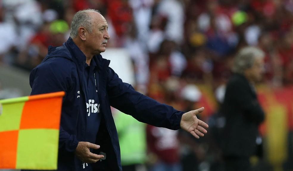 Derrota para o Flamengo foi o fim da linha para Felipão no Palmeiras — Foto: Cesar Greco/Palmeiras