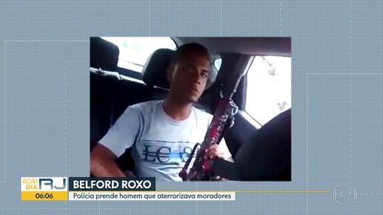 Polícia prende suspeito de aterrorizar moradores da Baixada Fluminense